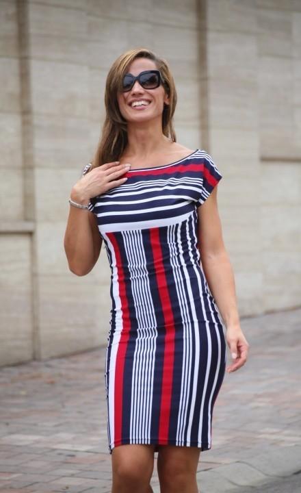 Elnevezés  Tengerészsíkos nyári ruha ... 264b135ce2